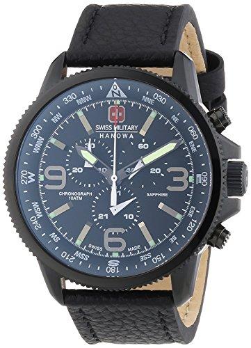 Swiss Military Arrow Orologio da Polso, Cronografo, Uomo, Pelle, Nero