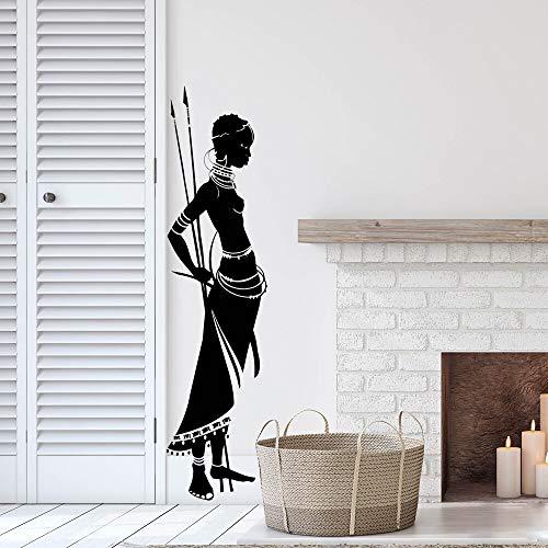 yaonuli Antieke Afrikaanse dames muursticker vinyl kunst afneembare muurposters schoonheid moderne decoratie thuis slaapkamer decoratie