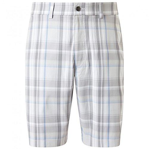 Callaway Madras Plaid Pantalones Cortos de Golf, Hombre, Blanco, 32/S