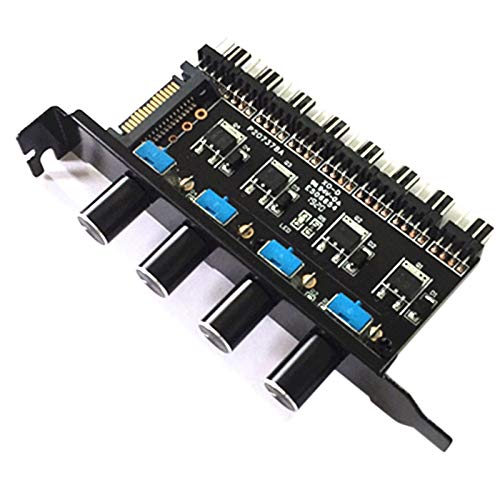 TOOGOO Pc 8 Canali Fan Hub 4 Manopola Regolatore di velocità della Ventola di Raffreddamento per Case CPU HDD Vga Ventola Pwm Potenza Staffa Pci da Controllo Ventola 12V