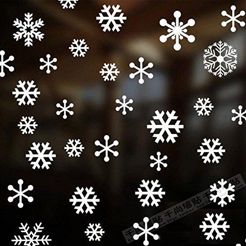 Kerstmis sneeuwvlok glas ramen op nieuwjaarswinkel raamdecoratie Kerstdag Sticker 55 Bloem Sneeuw muur mount, groen,
