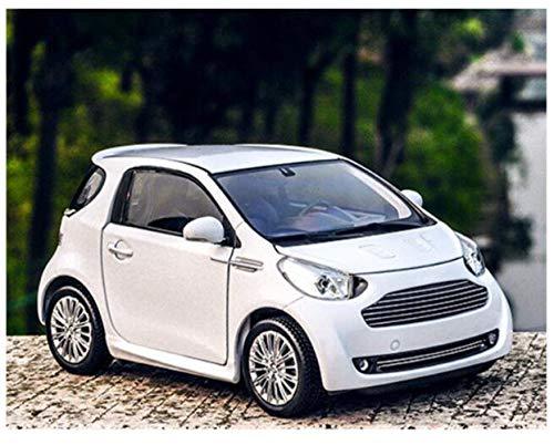Modelo Coche 1:24 para Aston para Martin para Cygnet Aleación Modelo de automóviles Diecasts Vehículos de juguete Recolecta regalos Modelo de caza de juguetes para niños Regalo (Color: Blanco) peng