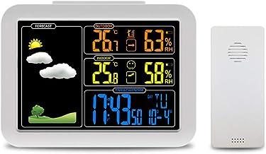 Weerstation, Atomic Wireless Weerstation met wekker, Snooze, Indoor/Outdoor Temp/Vochtigheid