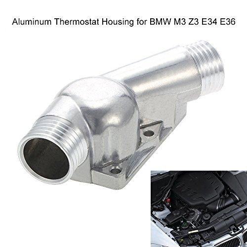 KKmoon Aluminium-Thermostat-Gehäuseabdeckung mit Dichtung/Thermostatgehäuse mit Dichtung für BMW M3 Z3 E34 E36