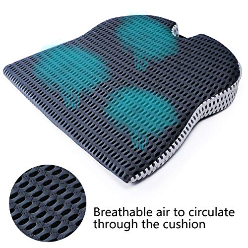 Memory Foam Seat Cushion-Foam Seat Cushion for Relieving Back Orthopedic Seat Cushion for Coccyx Sciatica Hemorrhooid Tailbone Back Pain Relief,Seat Pads for Office Chairs Wheelchair Car Seats