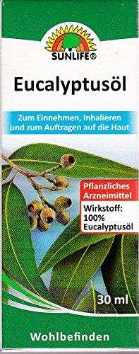 Eucalyptusöl 100 % Sunlife 30 ml