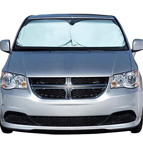 EcoNour Windshield Sun Shade - Blocks UV Rays Sun Visor Protector Sunshade to Keep Your Vehicle Cool...