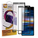 Guran [2 Paquete Protector de Pantalla para Sony Xperia 10 Plus Smartphone Cobertura Completa Protección 9H Dureza Alta Definicion Vidrio Templado Película - Negro