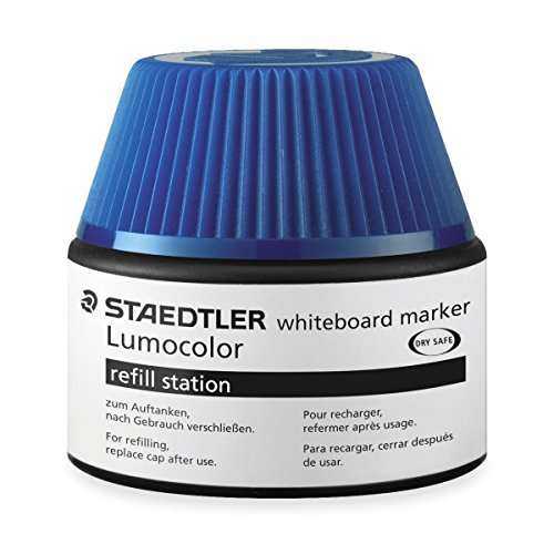 Staedtler Lumocolor whiteboard marker Nachfüllstation für 351/351 B, 15-20x Nachfüllen | 4x Nachfüllstation blau