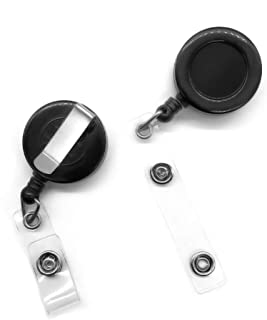 20 Pcs Retractable Badge Reel for Id Card Keychain Badge Holders