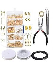Longsing Sieradenaccessoire, knutselset, 912 stuks, set voor het maken van armbanden, oorbellen, doe-het-zelf, handgemaakt