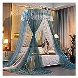 Cortinas de dossel de cama para quarto de meninas, Cama de casal exclusiva para mosquiteiro, Top de tenda de renda, Amplie a porta da tenda, fácil de instalar (tamanho: para cama de 1 m / 3,3 pés)