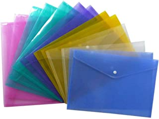 20 Pcs A4 Size Clear Document Folder Wallets Files Folders Filing School Office Project Envelope Folder (Transparent)