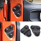 YOCTM Door Screw Protector Cover Trim For 2018 2019 2020 2021 Jeep Wrangler JL JT Willys Sport S Rubicon Deluxe Sport Utility Black ABS (2-Door/4-Door) (Pack of 2)