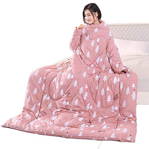 Blankets Courtepointe paresseuse avec Manches Couvertures multifonctionnelles Hiver Chaud lavé Chaud Portable Fournitures canapé-lit,B,180x200cm