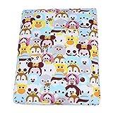 Tragbare Reisewickelunterlage Wasserdicht Atmungsaktiv Baby Verdicken Baumwolle Urin Pad Windel Wickelauflage für Jungen Mädchen Neugeborene(Tiere)
