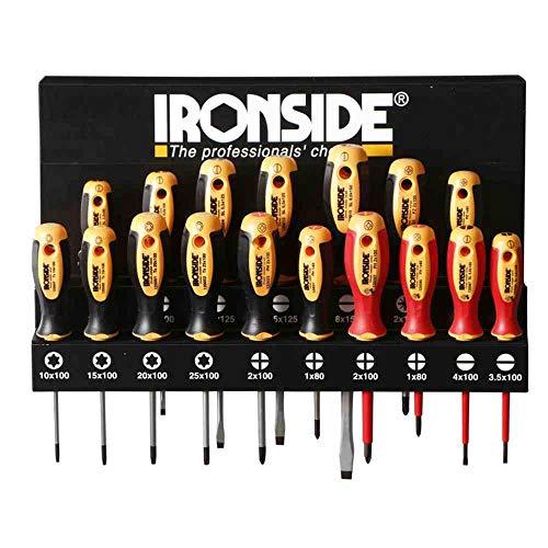 Ironside - M262678 - Juego destornilladores metal x 17 piezas