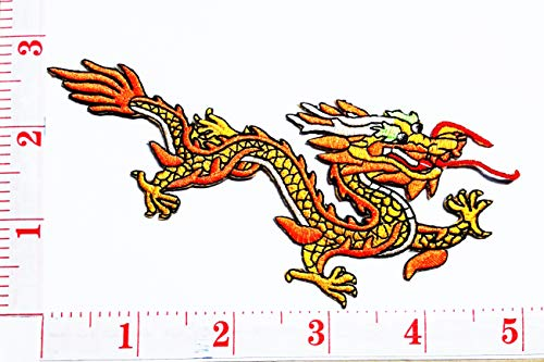 Chinese Dragon kung fu Yakuza Tattoo Cartoon Patch Sew Iron on Embroidered Applique Craft Handmade Baby Kid Girl Women Cloths DIY Costume Accessories