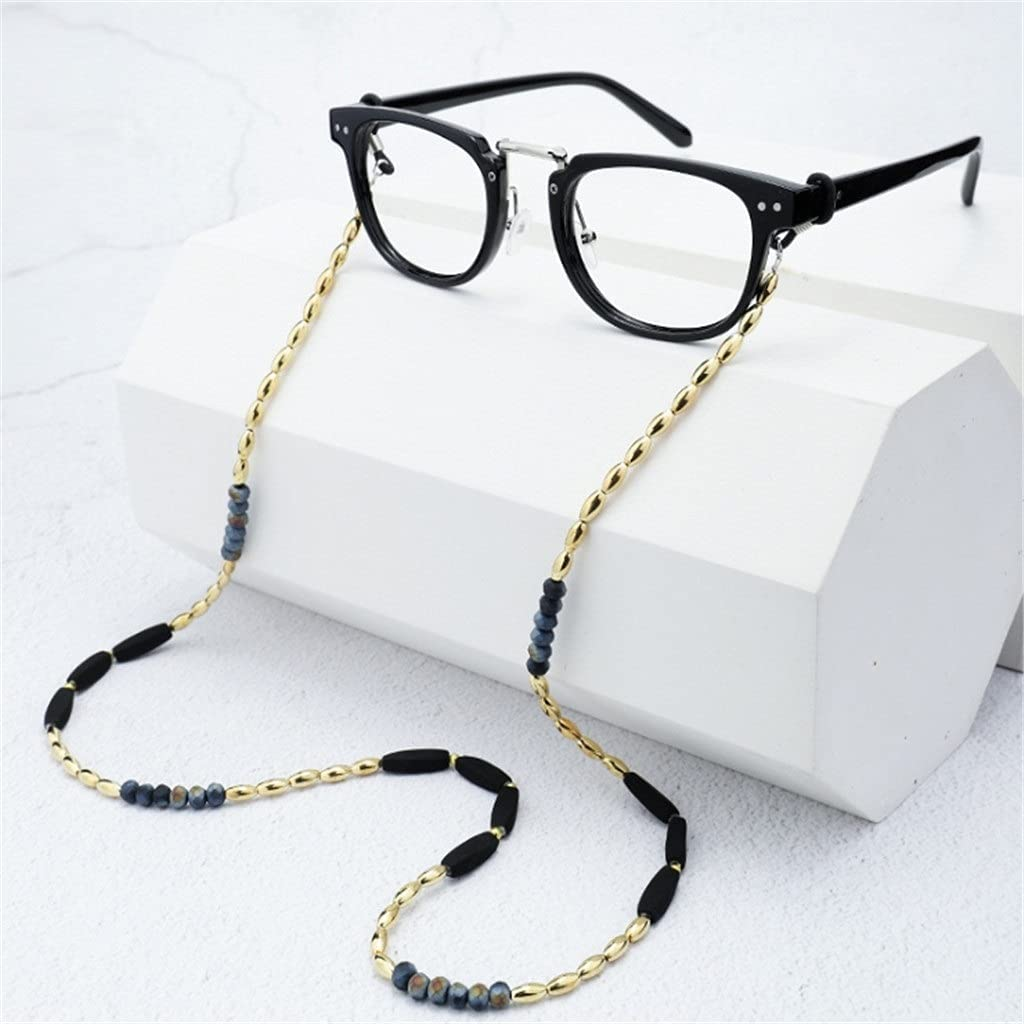 YFQHDD Bohemia 4 Color Lock Block Bead Cords Reading Glasses Chain Women Sunglasses Accessories Lanyard Hold Straps (Color : B, Size : Length-70CM)