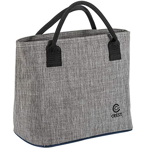 CREST Lunch Tasche Isolierte Kühltasche, Faltbare Kühltasche Picknick-Handtasch für Frauen, Erwachsene, Studenten und Kinder