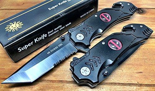 Deadpool Spring Assisted Pocket Knife, Folding Pocket Knife 8.5