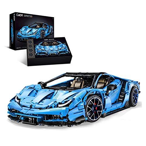 WANCHENG Technik Bausteine CADA Italienisches Supercar, 3842 Teile Konstruktionsspielzeug, C61041 CADA Master, Kompatibel mit Lego Technic, Blau