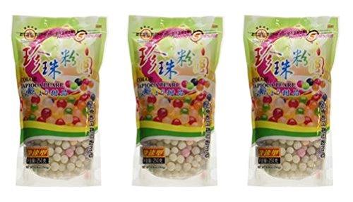 Wufuyuan - Colorful Tapioca Pearls 8.8 Oz (Pack of 3)