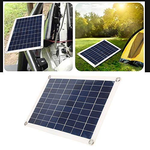 Solar Power Panel, 15 W Dual 5 V USB Solar Power Panel Kit Autobatterie-Ladegerät-Controller