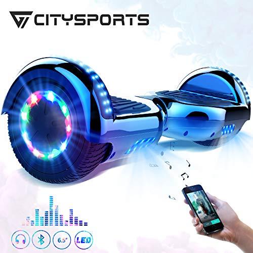CITYSPORTS Hoverboard 6.5,Self Balance Scooter 6,5-Zoll Bluetooth, Segway-Motor 700W mit LED-Blitz-Rädern, elektrischer Skateboard-Kind-Erwachsene