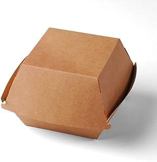 Selfpackaging Caja de cartón clásica para Hamburguesas - Pack de 50 Unidades