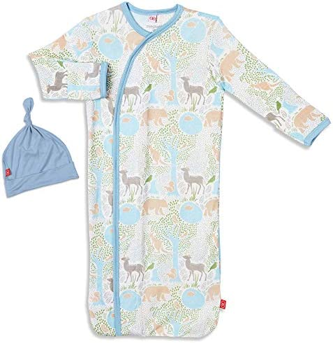Magnetic Me Baby Gown Hat Sleep Outfit Soft Modal Layette Sack Set with Magnet Fasteners Newborn product image