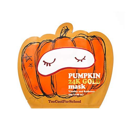 Too Cool for School Pumpkin 24k Gold Mask, Luxurious, Biocellulose, Gel mask, Radiant, Smooth skin, Nourished skin