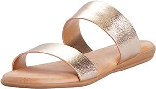 Metallic Two Strap Slide Sandals Style TAMBER