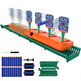 BIMONK Running Shooting Targets for Nerf Guns, Electronic Scoring Targets with 2.8ft Moving Track, Auto Reset Targets, Special Sound & Light Effects, 20pcs Nerf Darts, Ideal Gift Toy