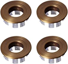 "YES Time 4 Pcs Inner Diameter 14mm/0.55"" Wash Basin Overflow Decorative Cover Bath Accessories (Bronze)"