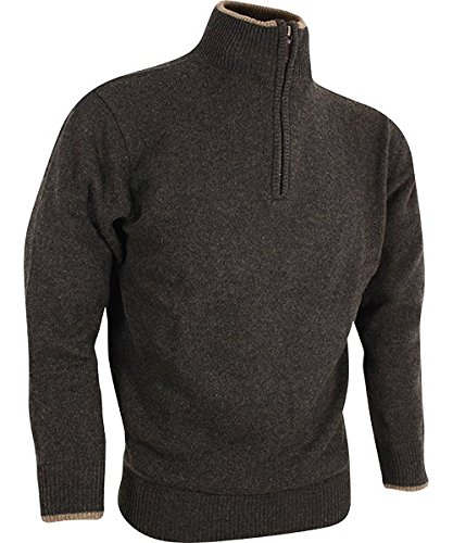 Beretta lamswol Troyer pullover Jack Pyke England donkerolijf bruin jacht vissen outdoor