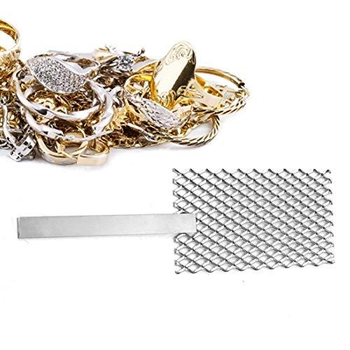 Malla de titanio platinizado, rebordear y hacer joyería-Acc