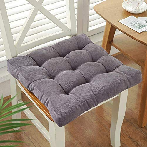 WHZG Cojin Silla Cojín de asiento espesado de peluche, almohadilla de silla acolchada sin deslizamiento, cojín de taburete de estudiante de aula, cojín de silla de oficina, colchonetas de comedor Coji