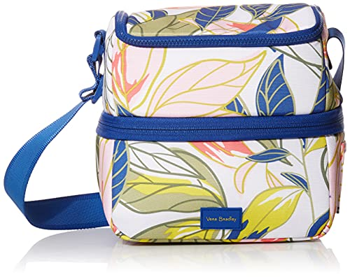 Vera Bradley Recycled Lighten Up Reactive Expandable Cooler Lunch Bag, Rain Forest Leaves