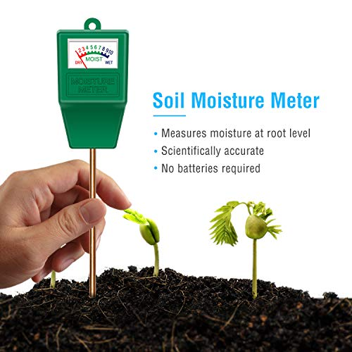 Review Atree Soil Moisture Sensor Meter Tester, Soil Water Monitor, Humidity Plant Tester, Hygromete...