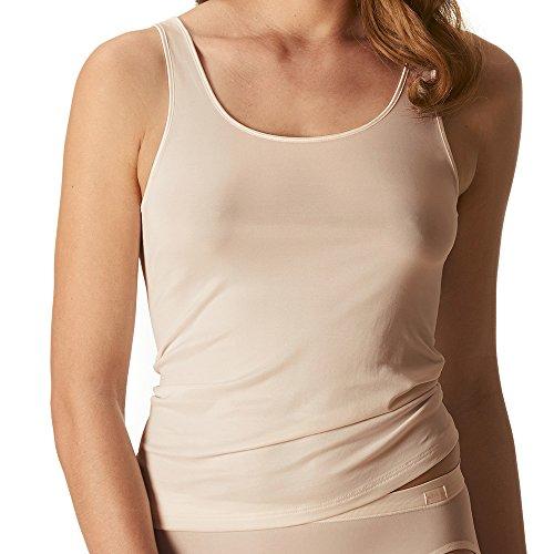 Mey Damen Sporty-Hemd – Größe 40 – Skin (Haut) – Top mit breiten Trägern – Shirt ohne Seitennähte – Unterhemd für Damen – 55204 Emotion