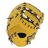 玉澤 タマザワ 軟式 ミット ファーストミット HERO 039 S ヒーローズ 一塁手用 TUF-551 イエロー 右投