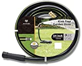 Worth Garden 12-Year Warranty Kink Free 3/4 in. x 100 ft. Hose, 100 ft Garden Hose, Durable Heavy Duty, Brass Fittings Water Hose Home and Commercial Grade