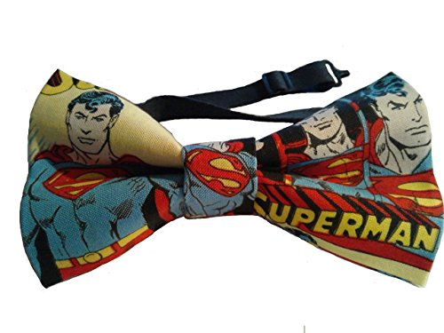Superman Bow Tie, Pretied, Various Sizes Big and Tall, Adult, Children