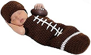TOOGOO Newborn Photography Props Outfits-Baby Boy/Girl Knitted Hat Pants Cartoon Animal Costume Set Football