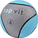 top | vit Medizinball - Fitnessball mit Gummioberfläche | Medizinbälle in Studio Qualität | 4kg,...