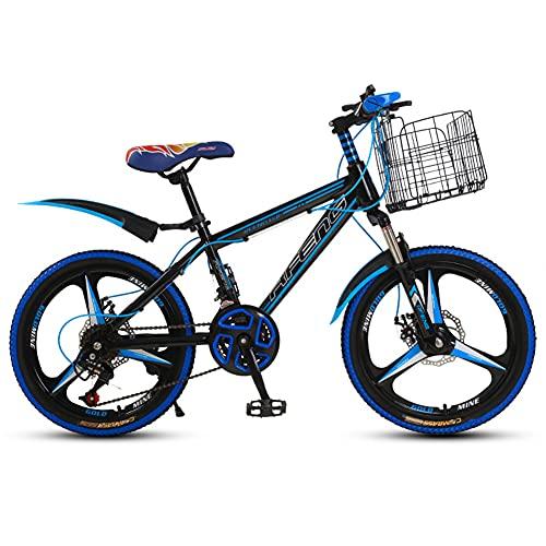 Bicicletas para niños, bicicleta de montaña de 20 pulgadas, bicicleta infantil, bicicleta de montaña, bicicleta juvenil (ruedas de cuchillo, azul y negro 3)
