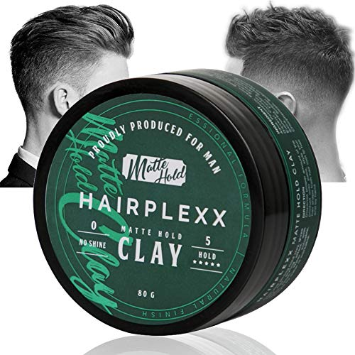 Hair Clay for Men Styling Product, Matte Finish Molding Hair Wax 2.8 Ounce, Strong Hold Light Smell No Shine…