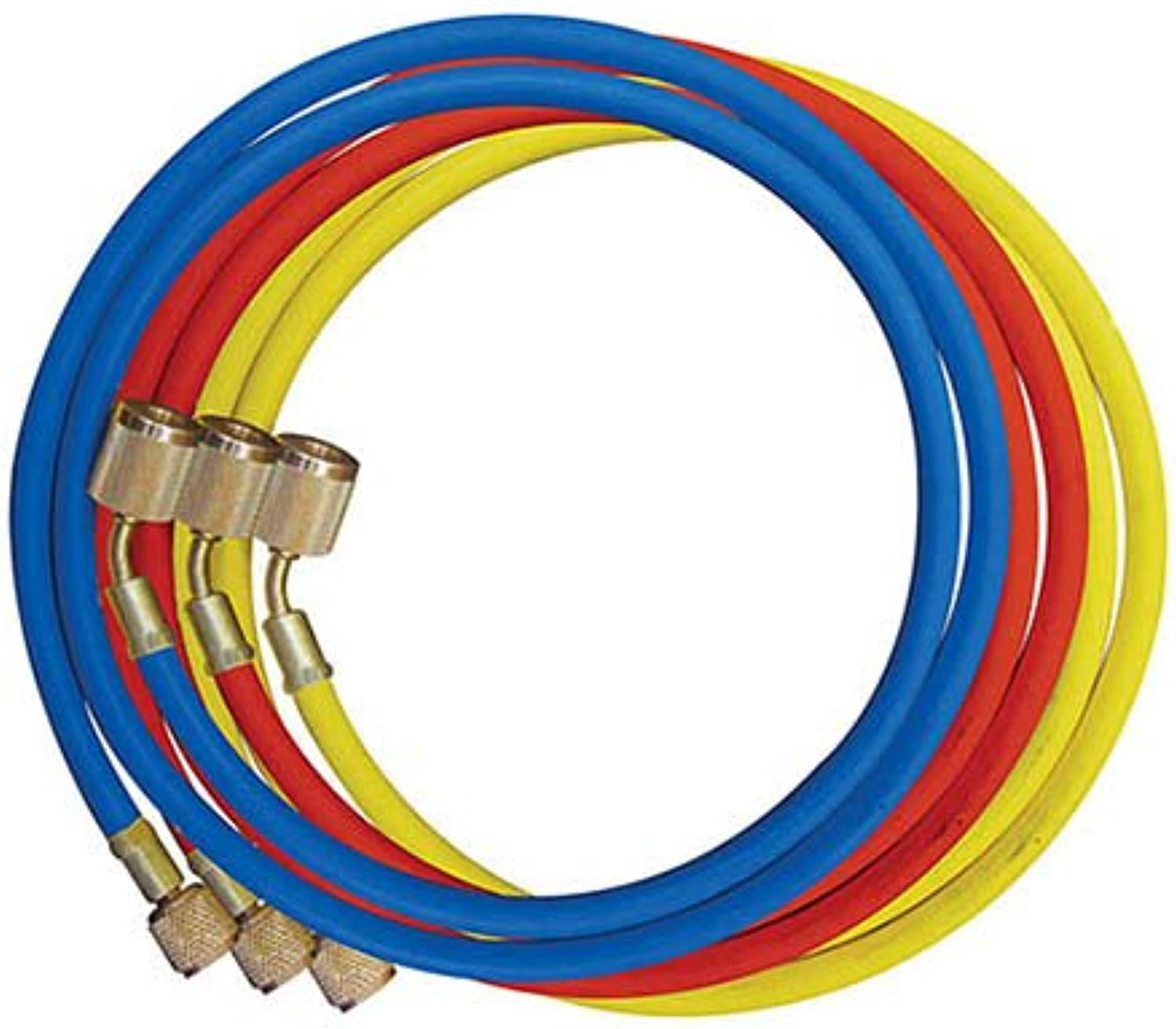 Rheem 45360 Rubber Refrigerant Hose Set, 5' Length, Anti-Blowback Fittings, 0.25  ID, 0.500  OD