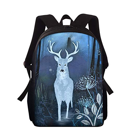 HXA Unique Animal Printed Backpack for Primary Boys Girls Lightweight Kids School Bag Children Rucksack for Teenage Small Travel Pack Bag,A
